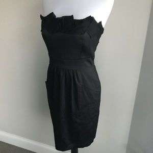 Max and Cleo black strapless dress